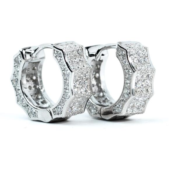 No Brand Other - 925 Sterling Silver Small Hoop Huggie Earrings